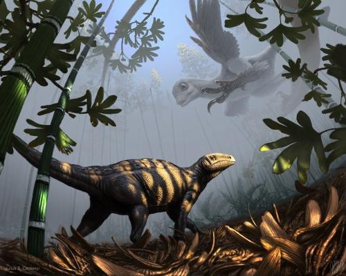 Csotonyi_Liaoningosaurus-Sinornithosaurus_1000